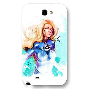 UniqueBox Customized Marvel Series Case for Samsung Galaxy Note 2, Marvel Comic Hero Invisible Woman Samsung Galaxy Note 2 Case, Only Fit for Samsung Galaxy Note 2 (White Frosted Case)