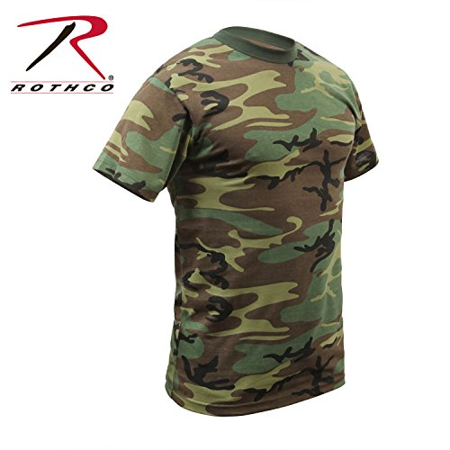 Rothco T-Shirt, Woodland Camo, Medium