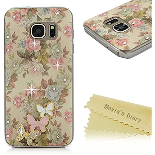 S7 Case,Galaxy S7 Case - Mavis's Diary 3D Handmade Bling Crystal Lovely Butterflies Shiny Diamonds Rhinestone Sales