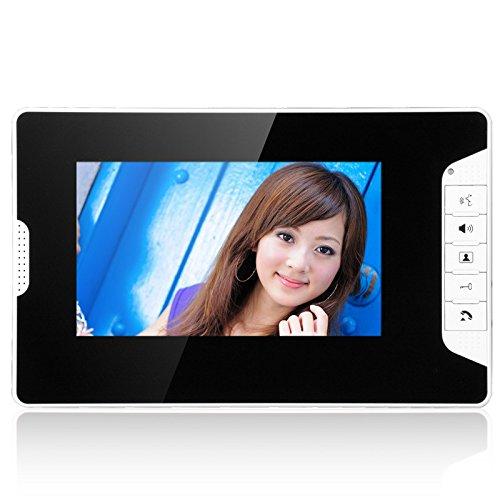 GAMWATER 7 Inch Video Door Phone Doorbell Intercom Kit 1-camera 2-monitor Night Vision with IR-CUT HD 1000TVL Camera Handfree intercom by GAMWATER (Image #2)