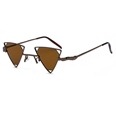 d7d6cad649 juqilu Metal Steampunk Style Sunglasses Men Women Cool Glasses Fashion  Triangle Hollow Out C1