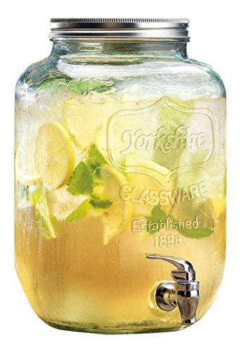 glass 2 gallon beverage dispenser - 4
