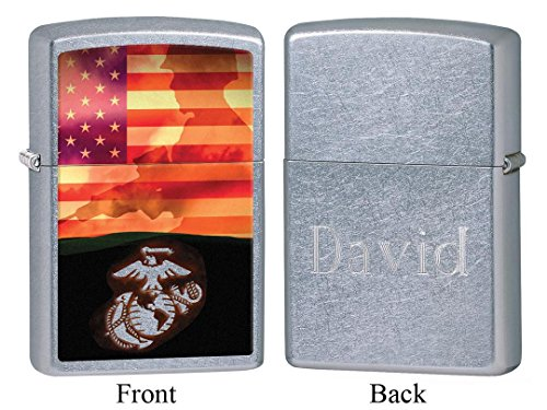 Personalized Zippo Marines Sunset Soldier Lighter with Free Engraving