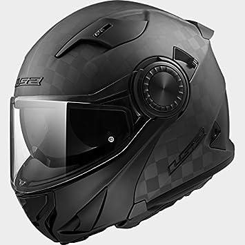 LS2 FF313 VÓRTICE Voltear el Casco de la Moto Cascos Modulares - Carbón Mate XS(