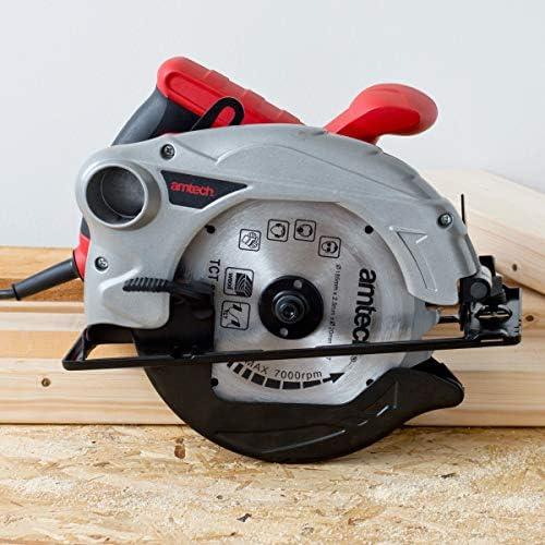 Amtech V6030 1300W Circular Saw (185mm), 1300 W, 230 V, Red, One Size