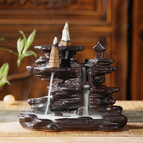 - Incense burner Backflow Incense Burner Creative Burner Sandalwood Agarwood Household Indoor Ceramic Aromatherapy Furnace Ornaments (size 1011.5cm) Household aromatherapy stove, multi-functional dec