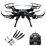 Junpro FPV RC Headless Quadcopter with Real Time Transmission Camera 4 Channel 6-Axis Gyro 2.4G X5SW-1 Aircraft Drone Support One Key Return 360 Degree Rolling Phone And Transmitter Two Way Control