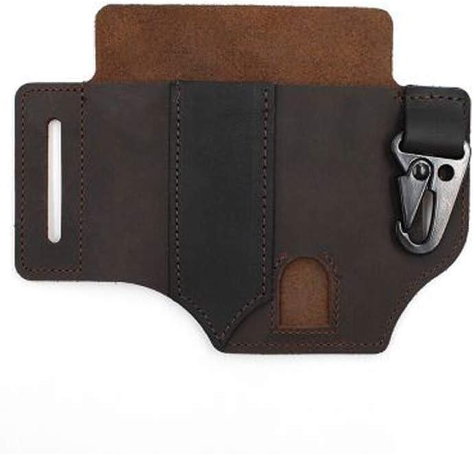 Organizer with Key Holder for Belt and Flashlight Sheath Multitool Pouch Black Multitool Leather Sheath Pocket
