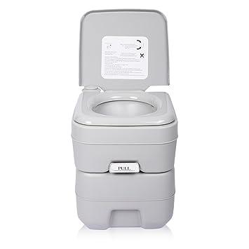 Excelvan 20L Travel Portable Toilet 5 Gallon Flush Porta Potti 130kg ...
