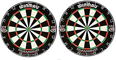 Winmau Blade 5 Bristle Dartboard with All-New Thinner Wiring for Higher Scoring and Reduced Bounce-Outs 3-Pack