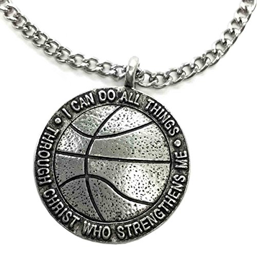 Forgiven Jewelry Basketball on Chain I Can Do All Things Through Christ
