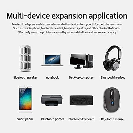 F Fityle 2 in 1 Wireless Bluetooth 4.2 Trasmettitore Ricevitore 3.5mm USB Adattatore per PC