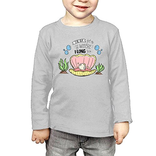 Intaiqub Pearl In The Ocean Children's Long Sleeves T-Shirt 4 Toddler - In Outlets Pa Clothing