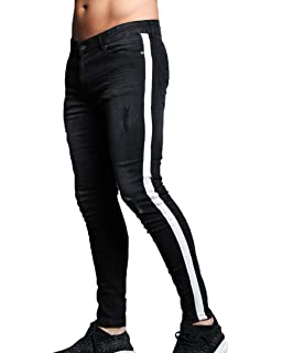 GINGTTO Skinny Jeans for Men Stretch Slim Fit Ripped ...