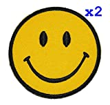 Pack of 2 Funny Smiley Smile Happy Yellow Face DIY