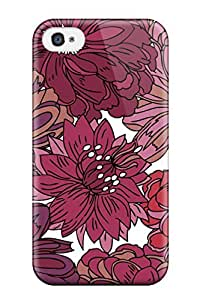 Fashion JkITEWx366kXRhT Case Cover For Iphone 4/4s(pretty Flower Ink Drawing )