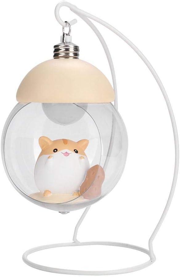 01 WYANG Neuheit fertigt Karikatur-Hamster-Nachtlicht-h/ängenden Korb-Licht-Geschenkkindern