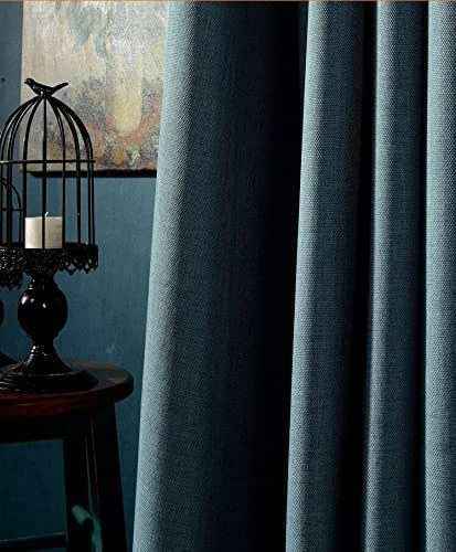 Amazon Com Slate Blue Blackout Curtain Handmade Custom