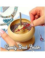 DIY Making Bead Spinner Holder DIY Jewelry Wooden Bead Holder Wooden Making Tools Crafting Project Stringing Seed Tool Supplies Crafting Bracelet