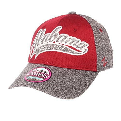 Zephyr Adult Tempest Women's NCAA Hat, Grey/Team Color, Adjustable