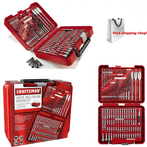 Craftsman 100 pc Accessory Set Drill Driver Bit Screw Tools Kit Case By TuangShop