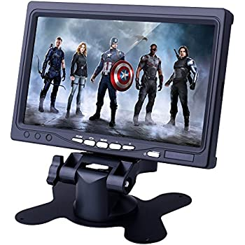 kuman 7 Inch HD Display 1024x600 TFT LCD Screen Monitor for Raspberry Pi 3 2B B RPi 1 B+ A+ with HDMI VGA Input, DVD VCR Car and Remote HDMI Cable SC7J