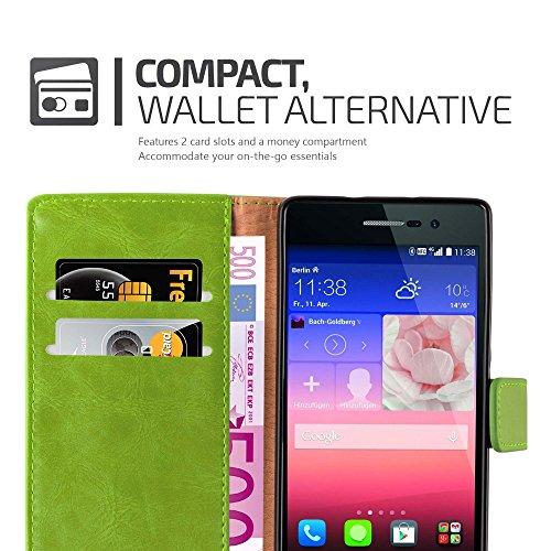 Cadorabo - Funda Estilo Book Lujo para Huawei P7 con Tarjetero y Función de Soporte
