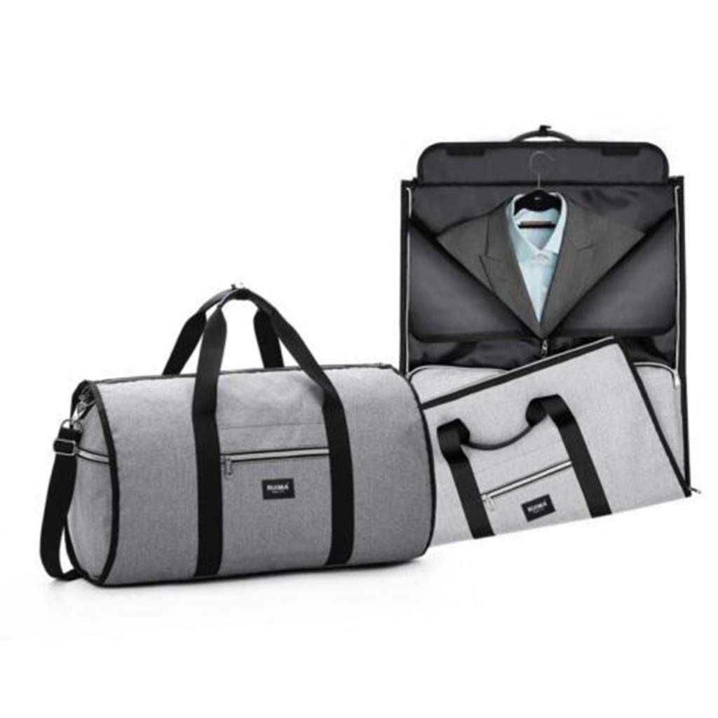 25cm x 15cm x 10cm SuperUS New 2 in 1 Travel Bag Shoulder Luggage Hangeroo Two-in-One Garment Bag Duffle , Black 9.84in x 5.91in x 3.94in