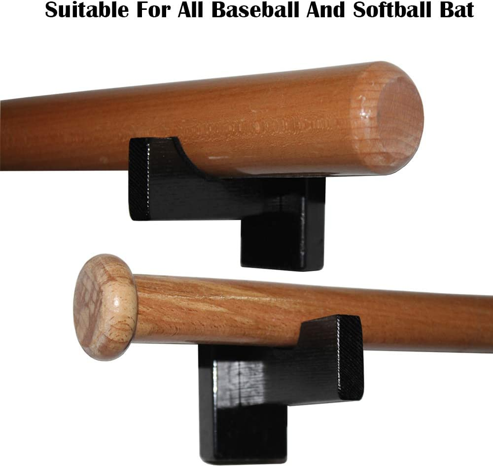Bat Souvenir Rack Stand Bat Storage Shelf HAI+ Wall Mount Horizontal Baseball Bat Rack Display Case Softball Bat Hanger Holder and Organic