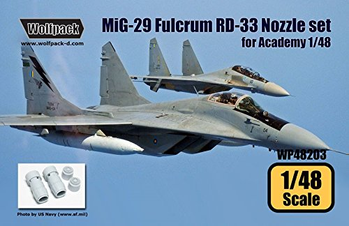 Wolfpack 1:48 MiG-29 Fulcrum RD-33 Engine Nozzle Set for Academy -Resin (48 Mig 29 Fulcrum)