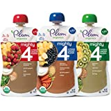 Plum Organics Mighty 4, Organic Toddler Food, Variety Pack, 4 ounce pouch (Pack of 18)(Packaging May Vary)