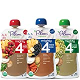 Plum Organics Mighty 4, Organic Toddler Food, Variety Pack, 4 Ounce (Pack of 18) (Packaging May Vary): more info
