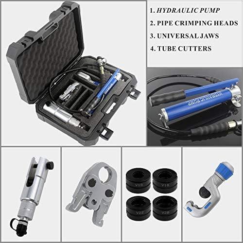 圧着工具油圧プレスPEXパイプ配管ツール、ステンレス鋼、真鍮と