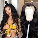 TUNEFUL 150% Density Human Hair Glueless Lace Front Wigs with Baby Hair Brazilian Body Wave Human Hair wigs for Black Women Pre Plucked Lace Wigs Natural Hairline (22 inch, Lace Front Wigs)