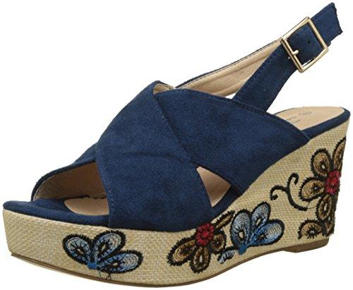 Femme Sandales Divine Bleu Factory Plateforme Alya Bleu The wqFxU8Xfx