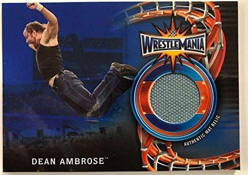 2018 Topps Road to WrestleMania WrestleMania 33 Mat Relics Blue #WM-DA Dean Ambrose NM-MT MEM /50 from Road to WrestleMania