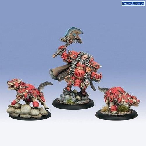 Warmachine Khador Kommaner Zoktavir, The Butcher Unleashed (3 Figures, PIP 33101) by Warmachine (Warmachine Khador Butcher compare prices)