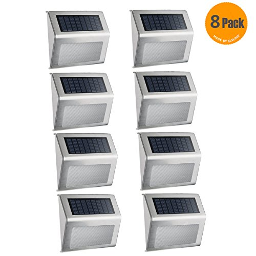 Solar-LightElelink-Outdoor-Stainless-Steel-LED-Solar-Step-Light-Illuminates-Stairs-Deck-Patio-Etc8-PACK