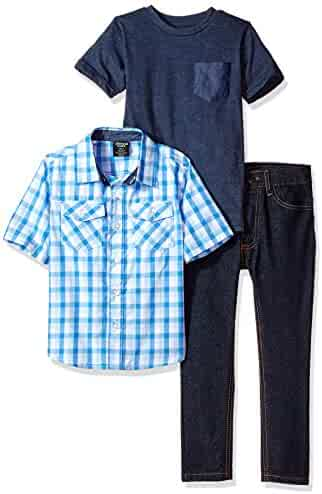 American Hawk Boys' Short Sleeve Shirt, T-Shirt and Pant Set (More Styles)