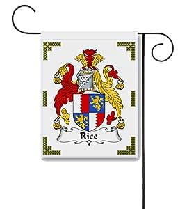 Escudo de arroz/Rice familia Crest 11x 15jardín bandera–hecho en los EE. UU.