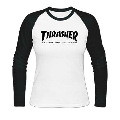 Amazon.com  Women thrasher skateboard magazine Baseball T-shirt  Clothing bb4527d3a