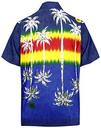 LEELA Likre Pocket Vintage  Shirt Navy Blue 277 5XL | Chest 66