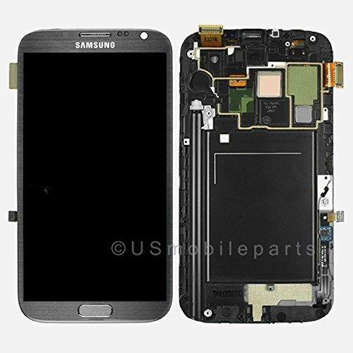 ePartSolution-Samsung Galaxy Note 2 N7105 T889 i317 LCD Glass Touch Screen Digitizer + Frame Assembly Gray Replacement Part USA Seller