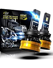 Cougar Motor Ultimate 9005 LED Bulb, HB3 High-focus 6500K Cool White Extremely Bright Conversion Kit - Adjustable Beam, Halogen Replacement