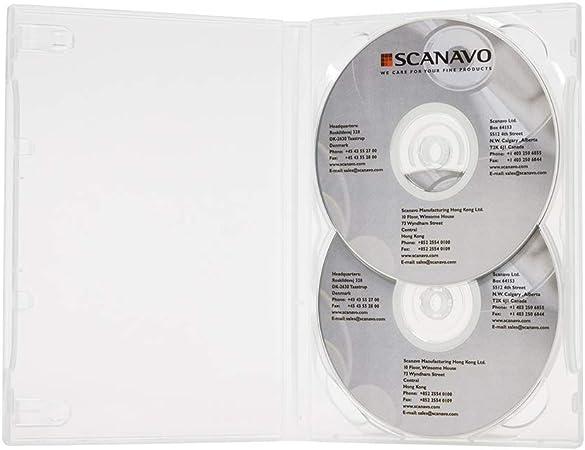 Scanavo - Caja para DVD (2 Discos, 14 mm), Color Blanco: Amazon.es: Electrónica