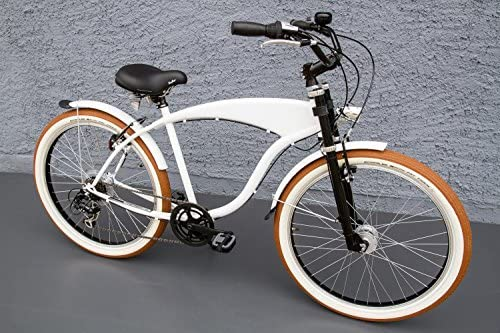 26 showbike Cruiser bicicleta 7 velocidades Shimano dinamo de buje ...