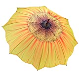 Galleria Yellow Sunflower Bloom Stick Umbrella Auto Release