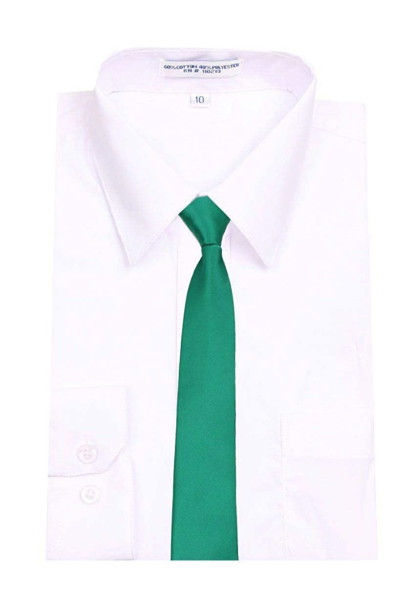 Green Infant Boys Necktie with Easy to remove band