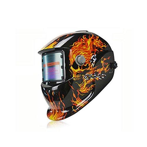 Deko skull flame solar auto darkening welding helmet