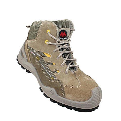 Chaussures de sécurité hautes velours beige SEQUOR SP1 SRC
